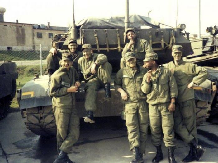 Me and the boys in the motor pool back in 1986